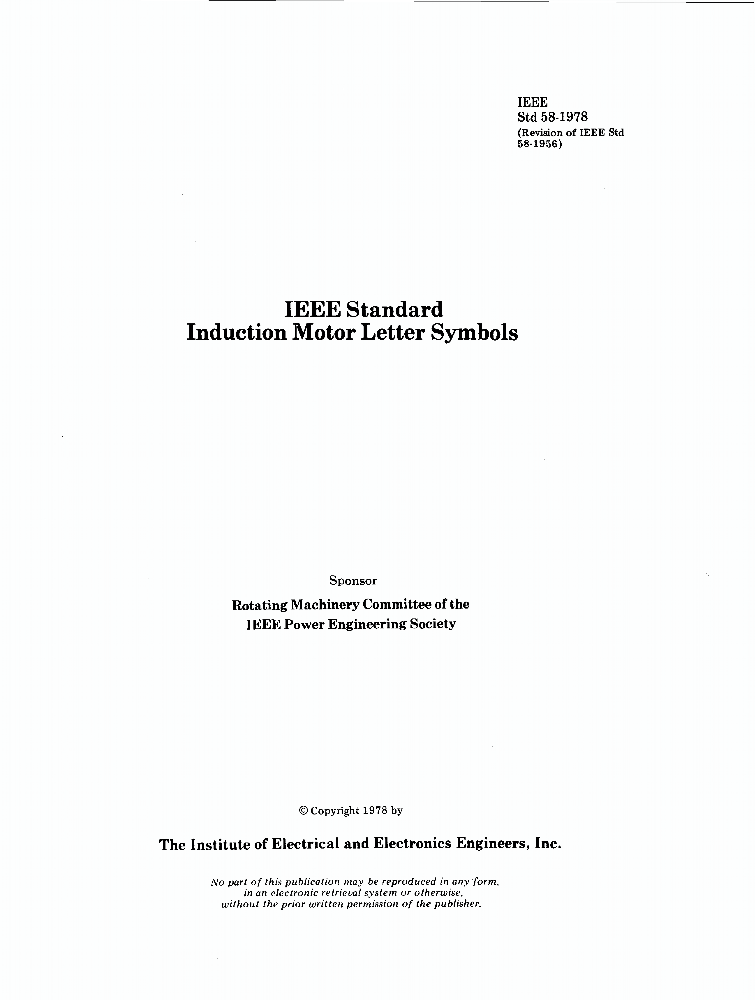 58 1978 ieee standard induction motor letter symbols for Ieee cover letter example
