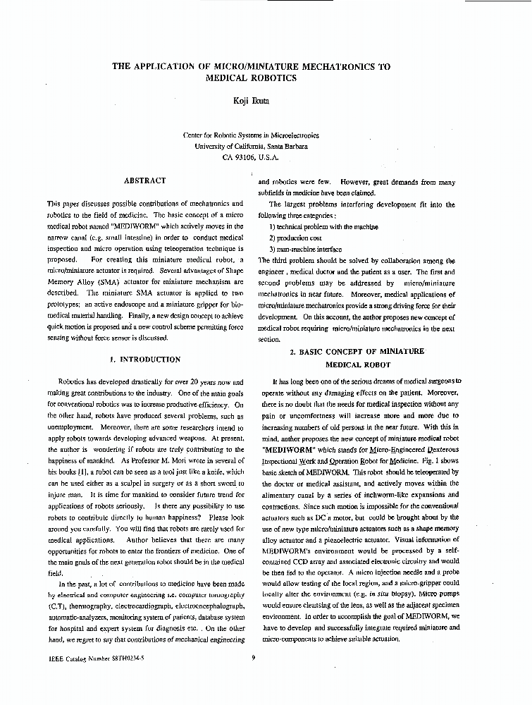 Abstract of an article