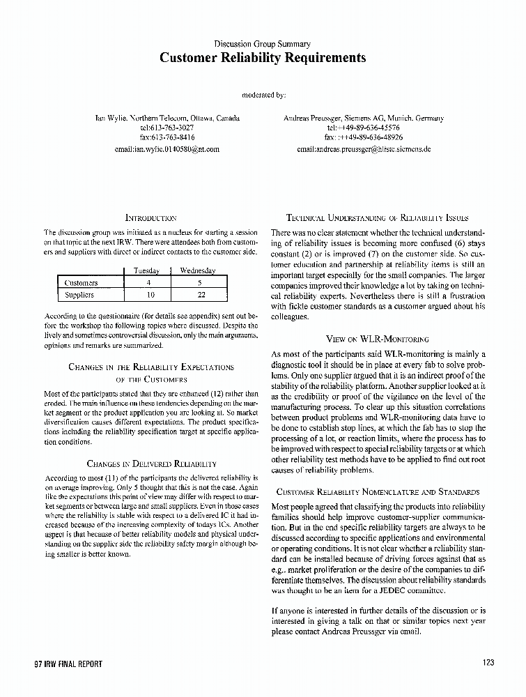 IEEE Xplore - Conference Table of Contents