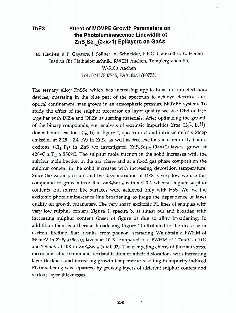 Summary Analysis Essay Effect Of Movpe Growth Parameters On The Photoluminescence Linewidth Of  Znssub Xsesub Xox Epilayers On Gaas  Ieee Conference Publication College Vs High School Essay also Macbeth Conflict Essay Effect Of Movpe Growth Parameters On The Photoluminescence Linewidth  How To Write Expository Essays