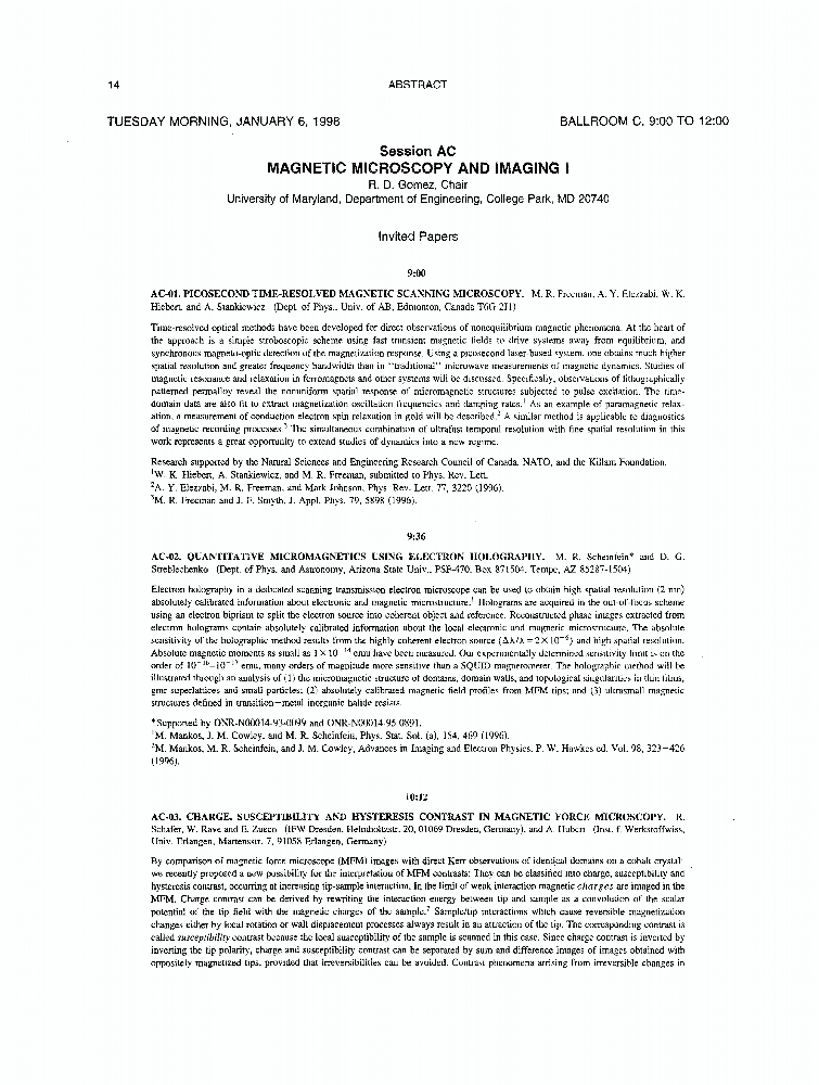 Abstract for article