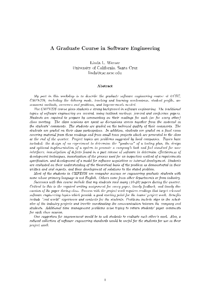 Automatic development tools in software engineering courses