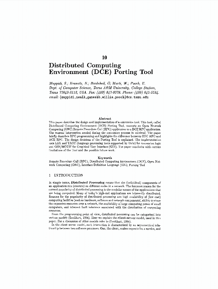 Distributed computing environment (DCE) porting tool - IEEE