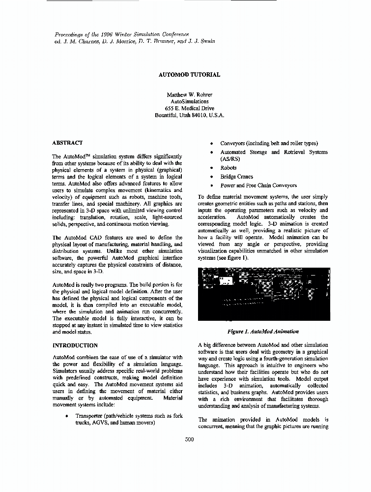 Automod tutorial - IEEE Conference Publication