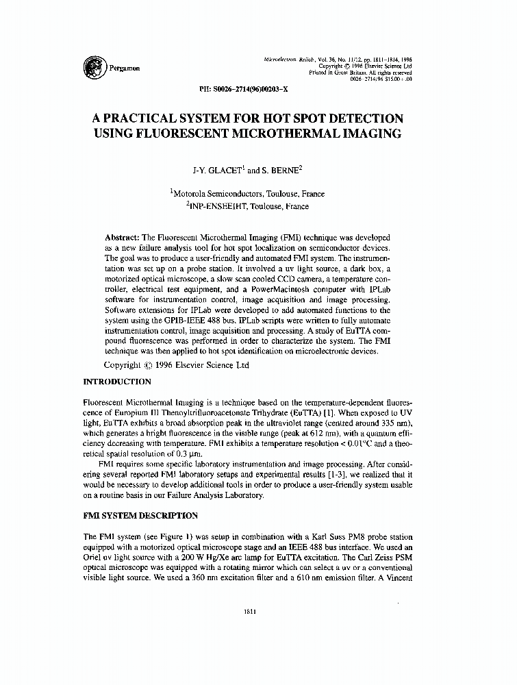 A practical system for hot spot detection using for Ieee definition