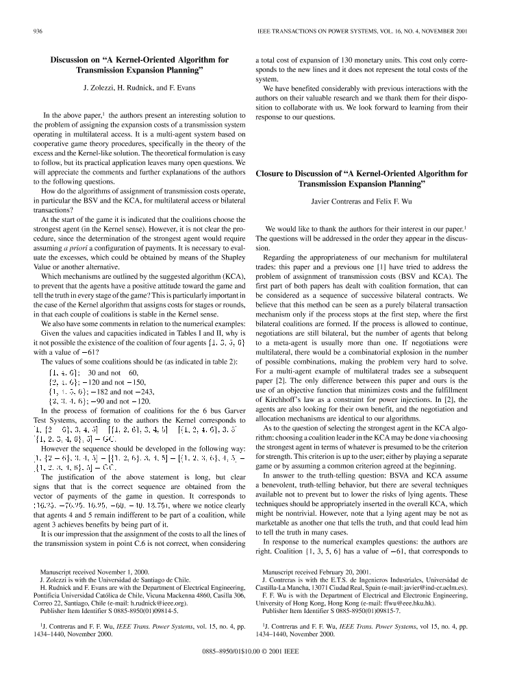 Ieee xplore ieee transactions on power systems volume 16 issue 4 first page of the article publicscrutiny Choice Image