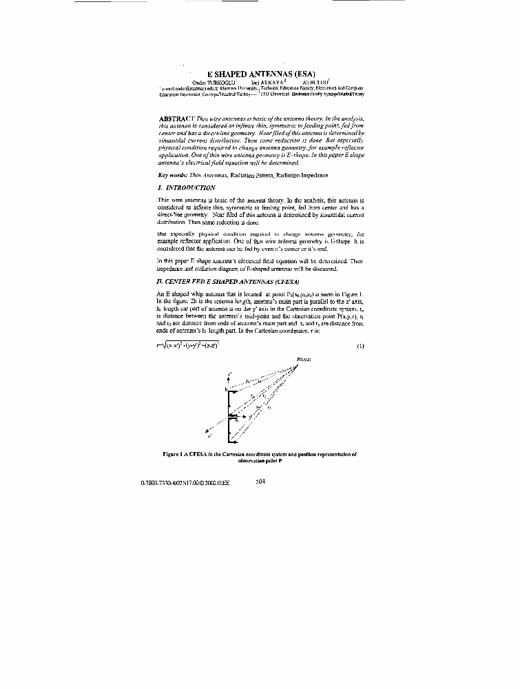 E shaped antennas (ESA) - IEEE Conference Publication