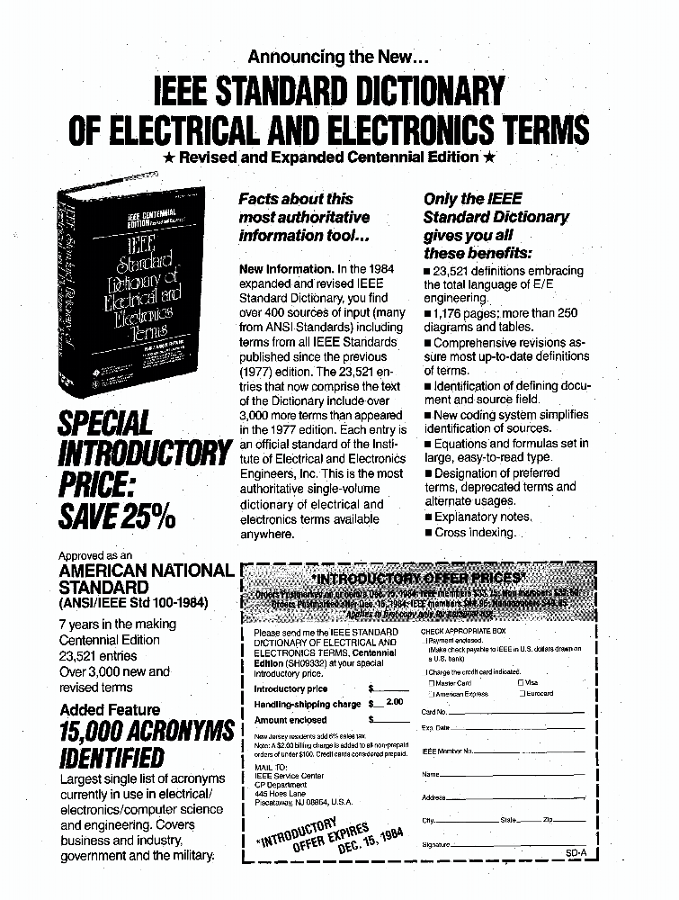 Ieee Dictionary Electrical Electronics Terms The Best Electronics 2017