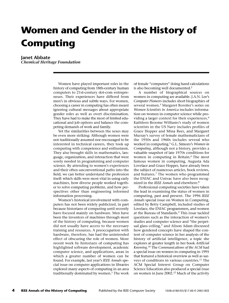 IEEE Xplore: IEEE Annals of the History of Computing