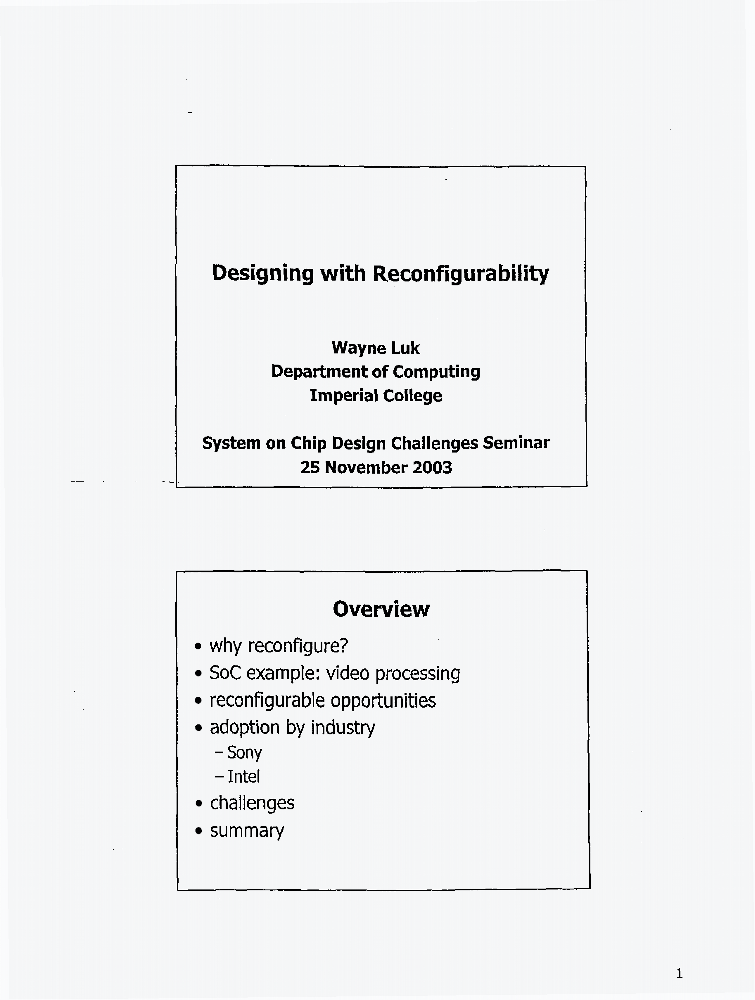 Designing With Reconfigurability Iet Conference Publication