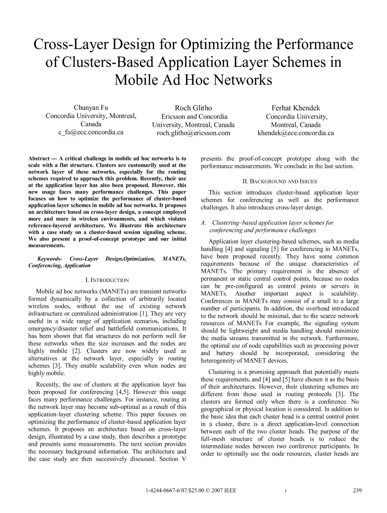 ieee research papers on adhoc networks