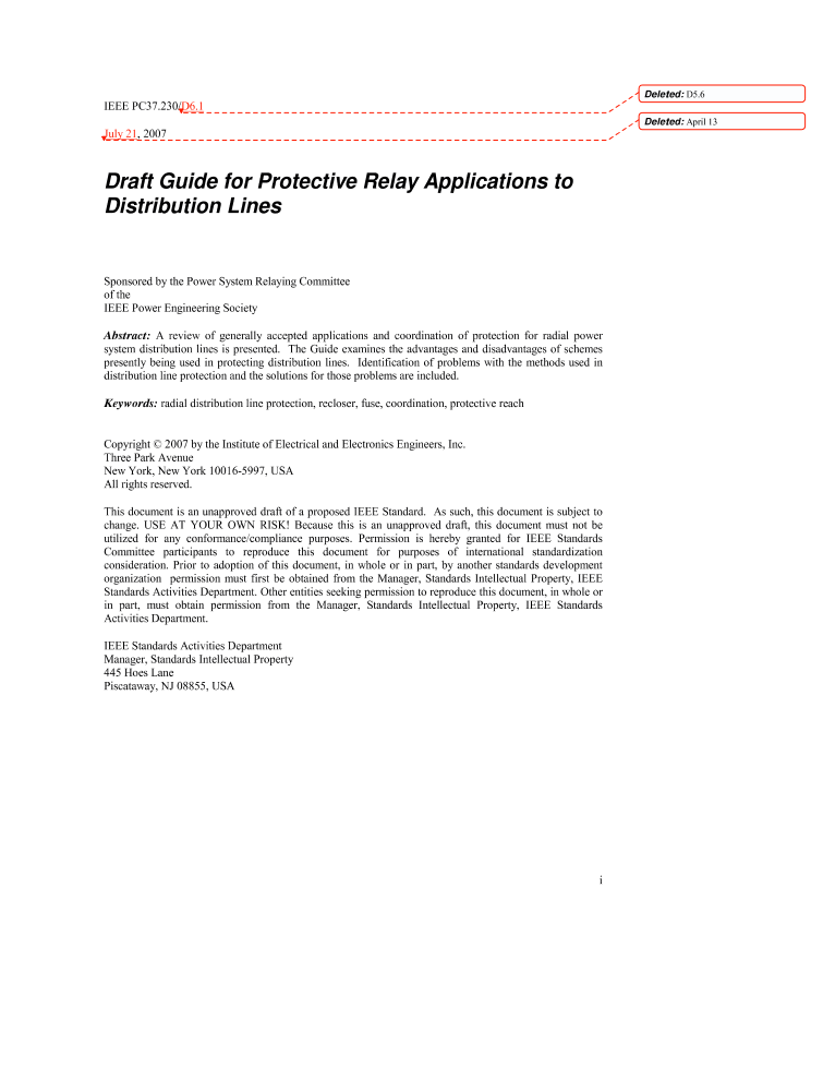 IEEE Xplore - Guide for Protective Relay Applications to ...