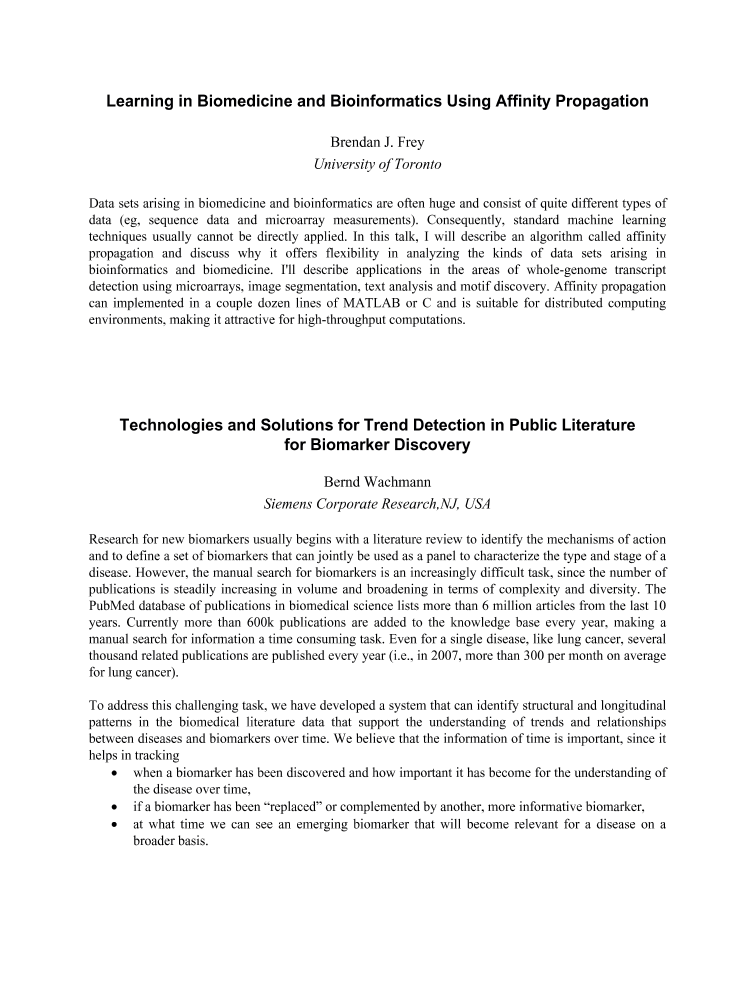 technologies and solutions for trend detection in public technologies and solutions for trend detection in public literature for biomarker discovery ieee xplore document